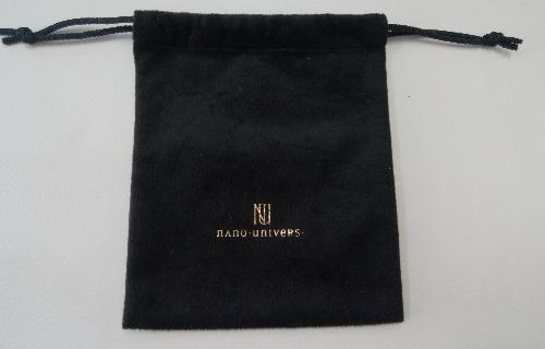 ベロア生地 巾着袋 制作